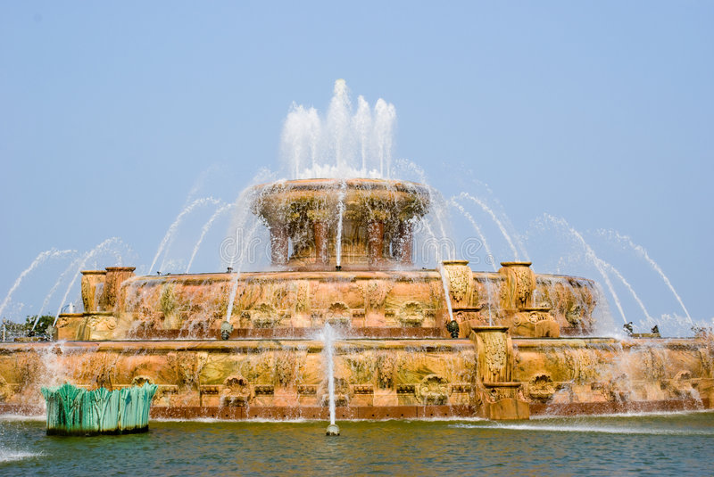 Buckingham Fountain. Chicago (Think Married with Children stock images