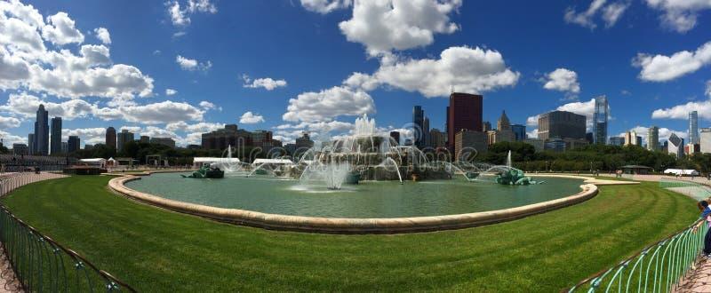 Buckingham Fountain. Chicago Grant Park Buckingham Fountain royalty free stock photo