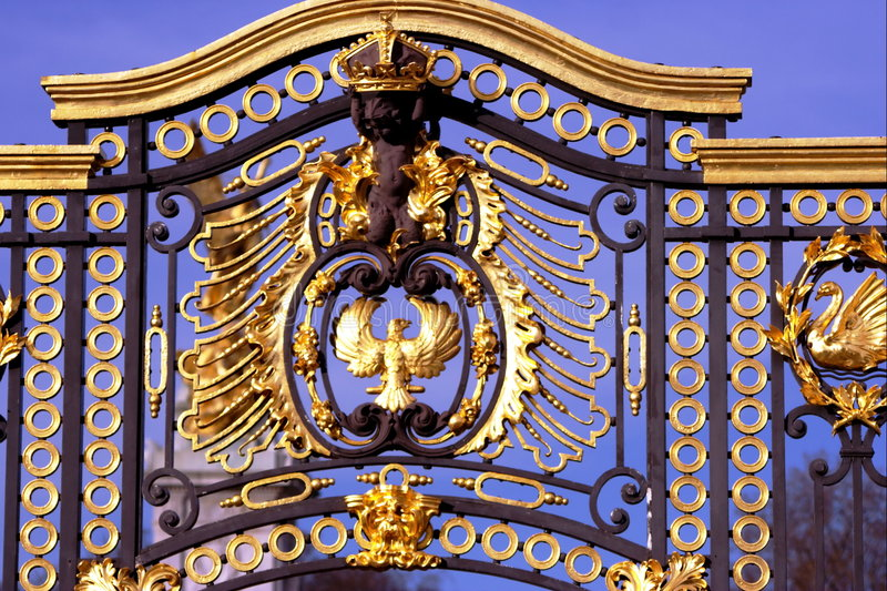 buckingham gate gold palace royal royaltyfri fotografi