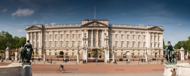 buckingham London pałac fotografia stock