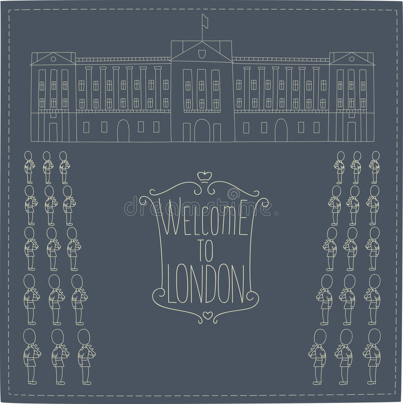Buckingham Palace vector illustratie