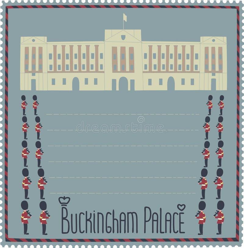 Buckingham Palace royalty-vrije illustratie