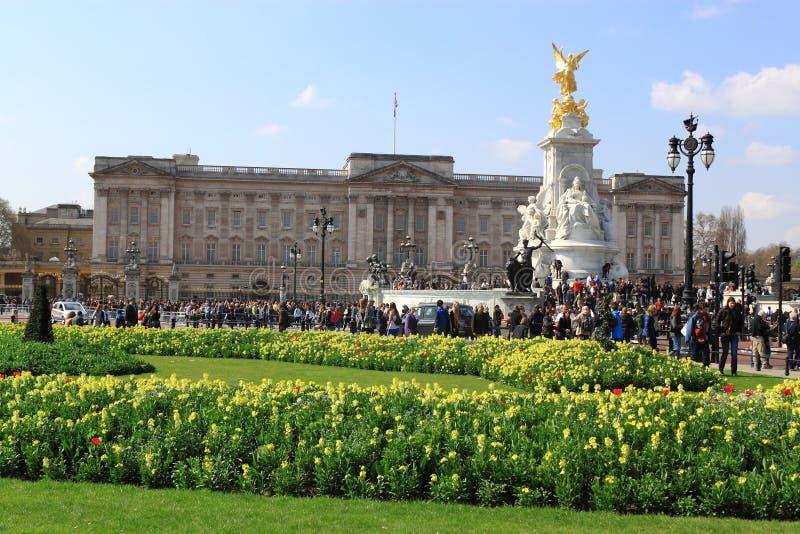 Buckingham Palace de la visita fotos de archivo