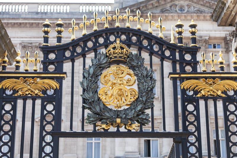 Buckingham Palace, detalhes de cerca decorativa, Londres, Reino Unido imagem de stock royalty free