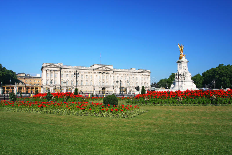 Buckingham Palace en Londres foto de archivo