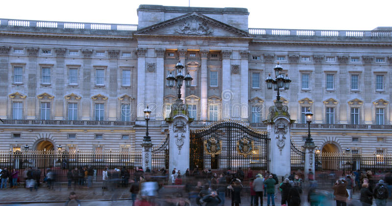 Buckingham palace. In the evening stock image