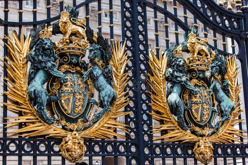 Buckingham Palace Gate London England Royalty Free Stock Photography
