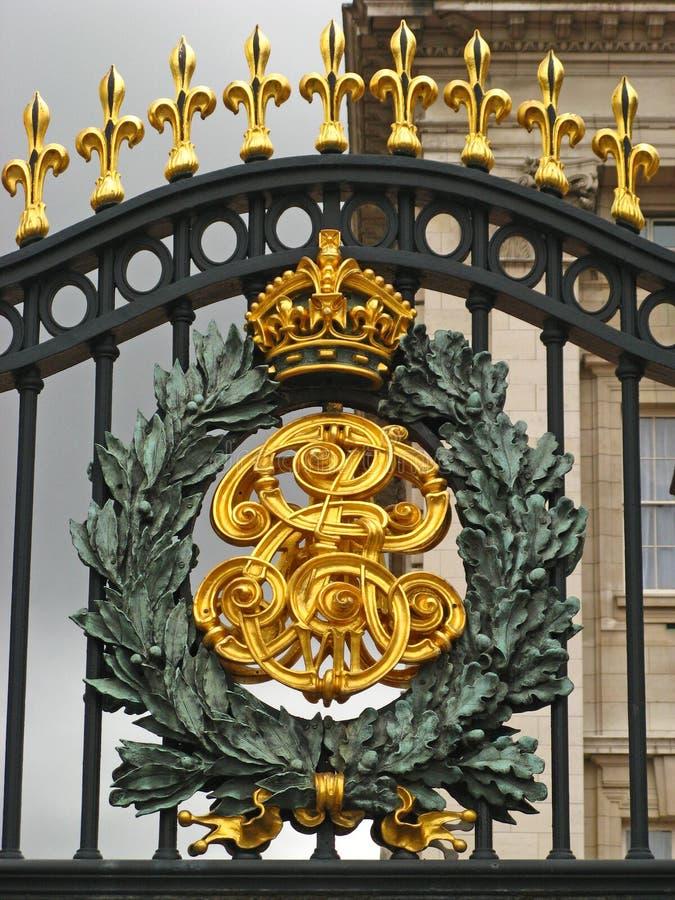 Buckingham Palace Gates 02. The iron gates of the famed Buckingham Palace, London, England, UK royalty free stock photo