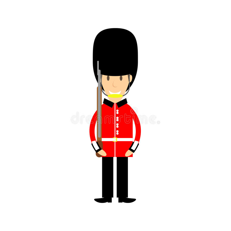 Buckingham palace guard. Available in vector format royalty free illustration