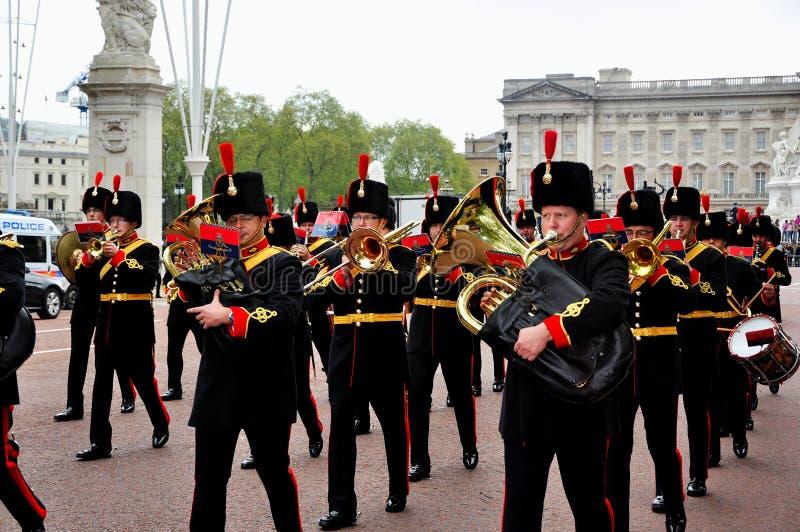 Buckingham Palace Guard Change royalty free stock image