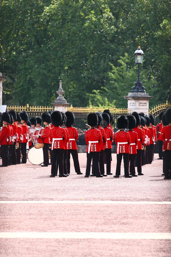 Buckingham Palace - Guards Change. Ceremony stock photo