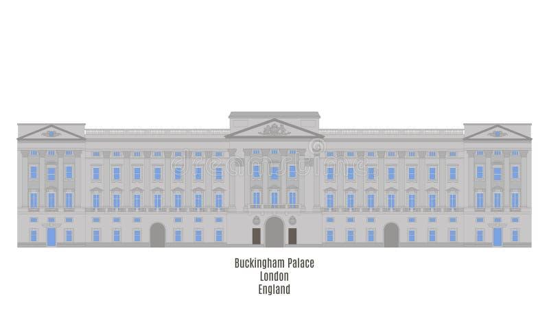 Buckingham Palace, Londen, het Verenigd Koninkrijk stock illustratie