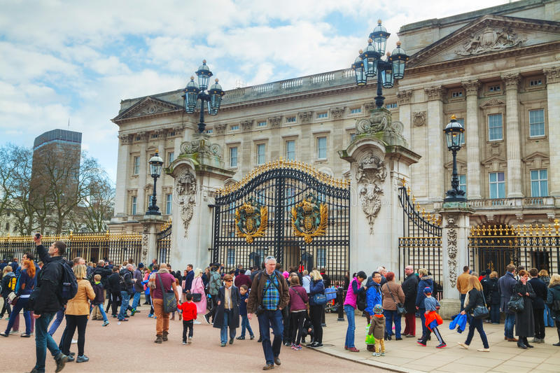 Buckingham palace in London, Great Britain stock image