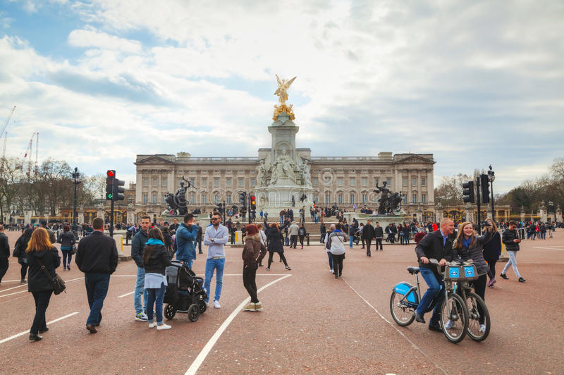 Buckingham palace in London, Great Britain stock images