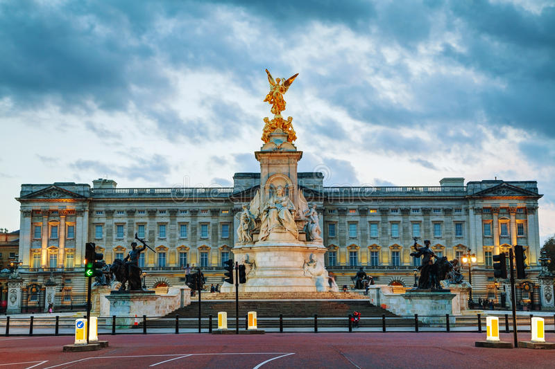 Buckingham palace in London, Great Britain royalty free stock photography