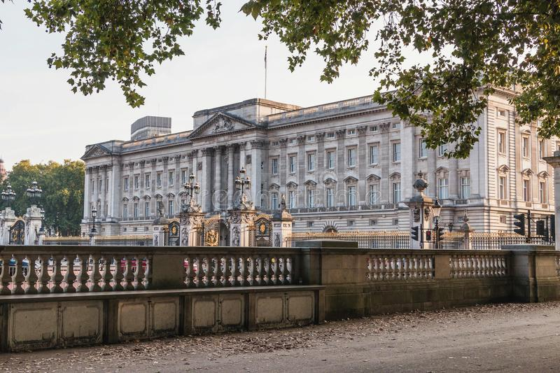 Buckingham Palace in London, home to the Queen of England. Editorial royalty free stock photos