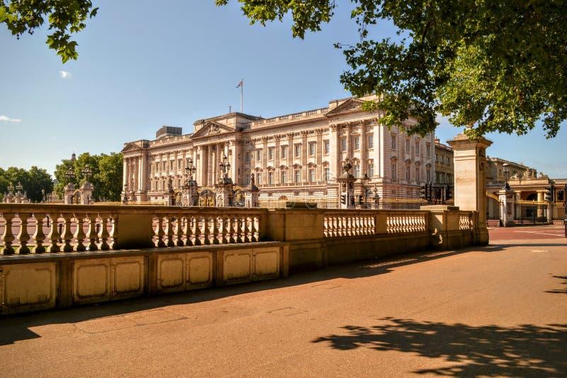 Buckingham Palace London. Residence of the British Queen, Buckingham Palace in London England stock photo