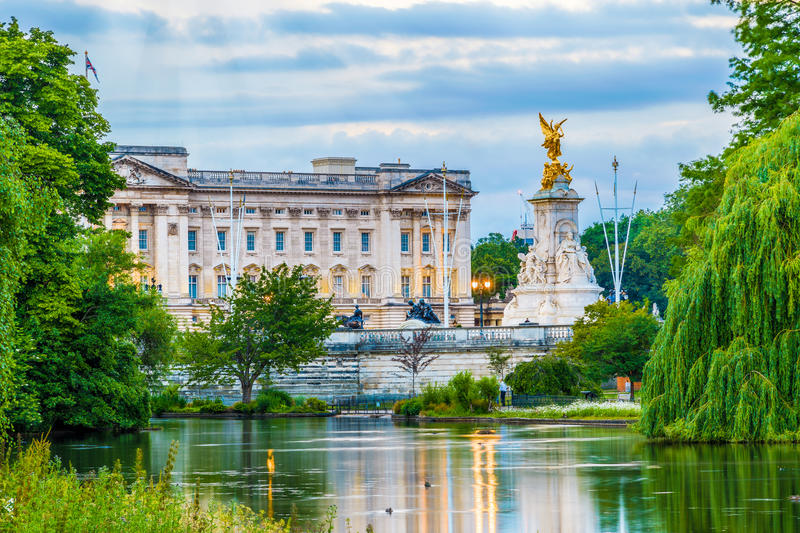 Buckingham Palace in London. Buckingham Palace seen from St. James Park in London royalty free stock photos