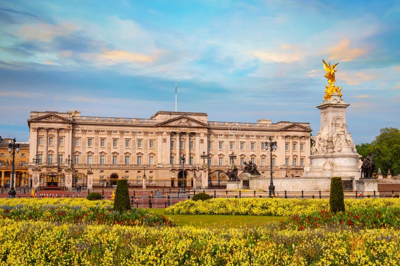 Buckingham Palace is the London, UK. Buckingham Palace is the London residence and administrative headquarters of the monarch of the United Kingdom, located in royalty free stock images