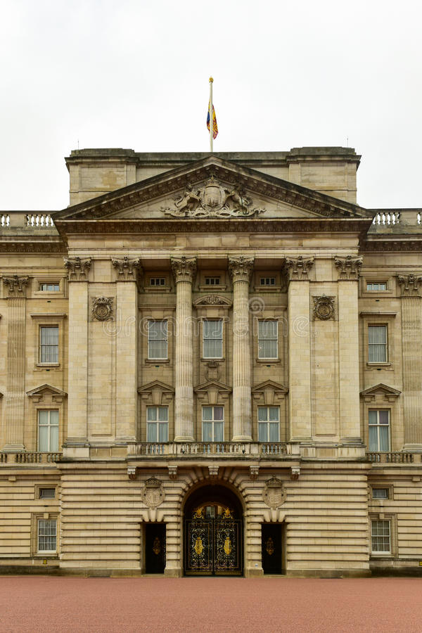 Buckingham Palace - London. Buckingham Palace in London, United Kingdom on a cloudy winter`s day royalty free stock photography