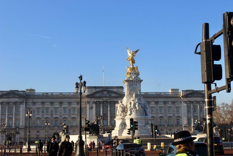 Buckingham Palace-Markstein lizenzfreies stockbild