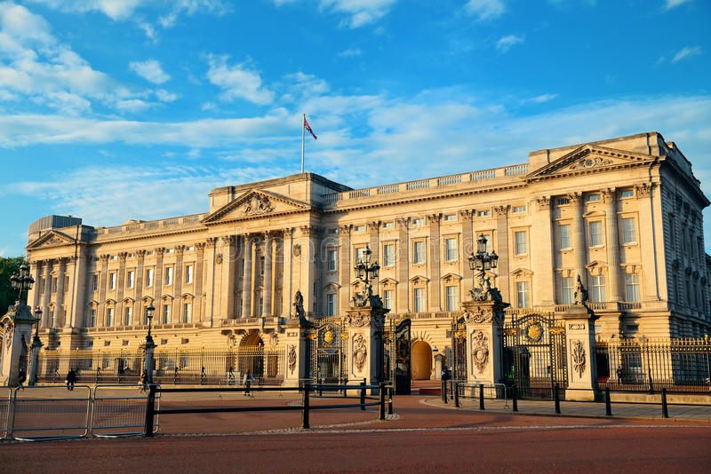 Buckingham Palace. In the morning in London royalty free stock images
