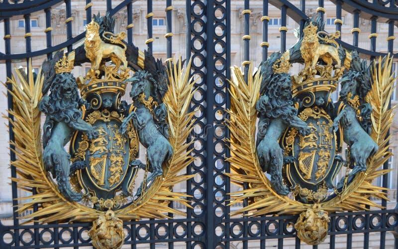 Buckingham Palace. Ornaments bars Buckingham Palace, UK stock photography