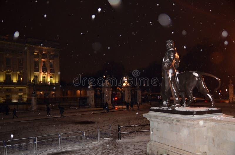 Buckingham Palace Schnee im zentralen London 18. Januar 2013