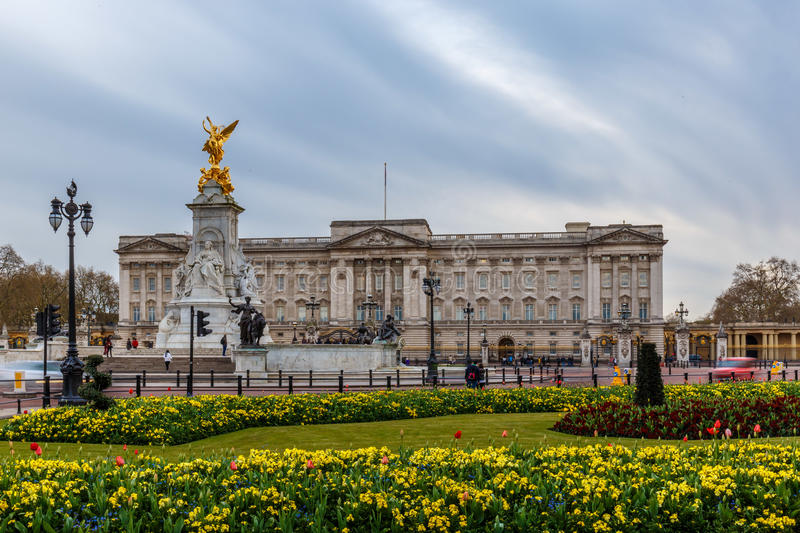 Buckingham palace in spring, Westminster. London royalty free stock photography