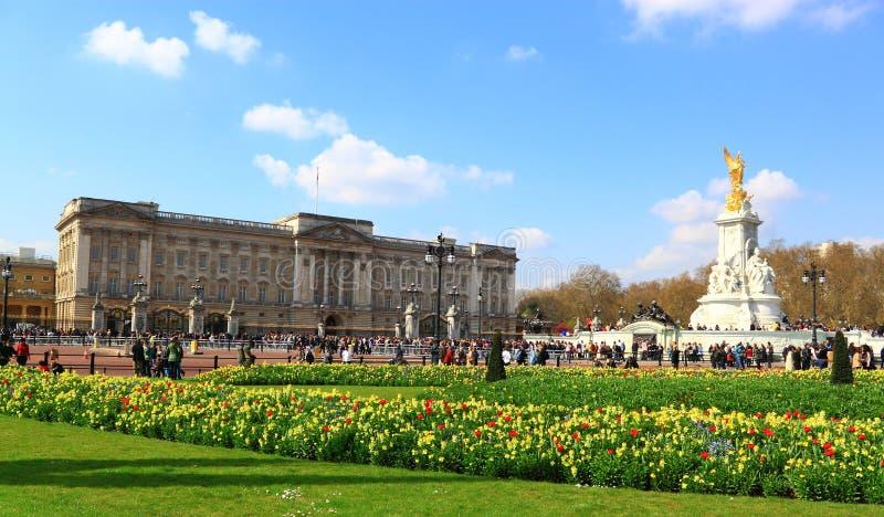 Buckingham Palace. In Sunny Spring stock image