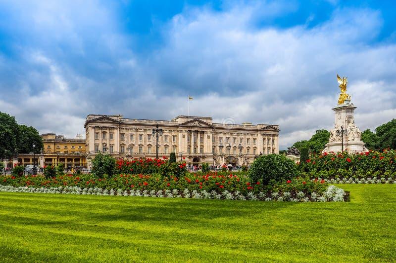 Buckingham Palace w Londyn (hdr) fotografia stock