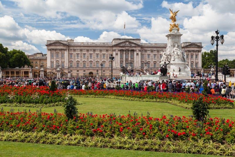 Buckingham slott London arkivbild