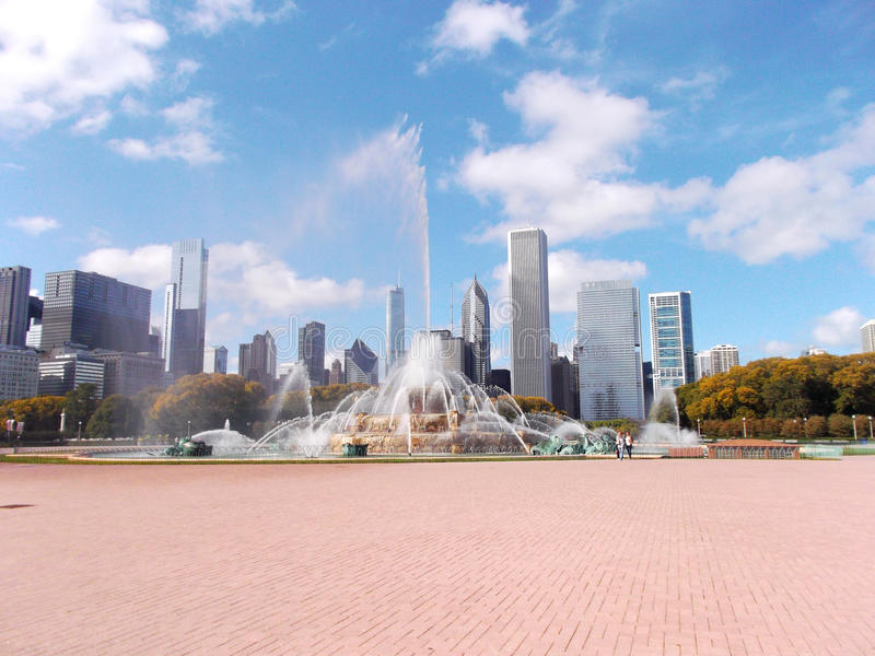 Buckingham springbrunn på Grant Park i Chicago, Förenta staterna royaltyfria bilder