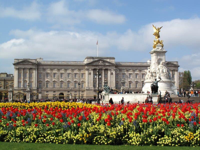 buckinghamslott royaltyfria foton