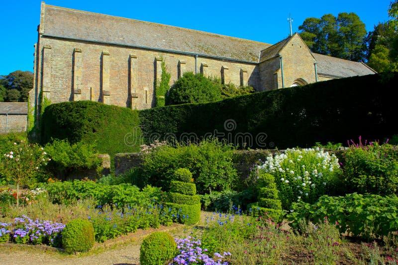 Buckland abbotskloster i den tamar dalen arkivbild