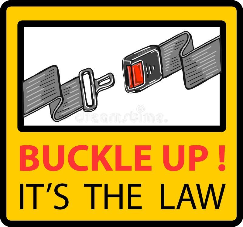 Buckle up seat belt sign vector illustration clip-art vector illustration