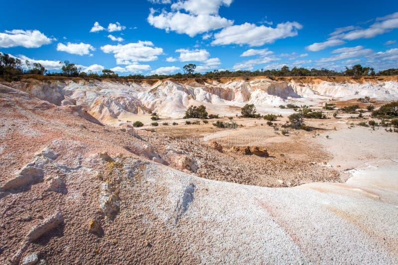 Buckleys-Ausbrechen - eine gemalte Wüste stockfotos