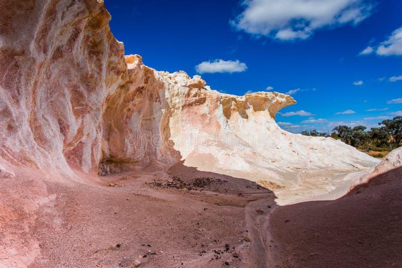 Buckleys-Ausbrechen - eine gemalte Wüste stockfotografie