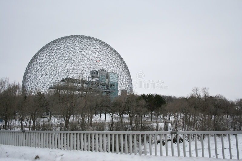 Buckminster Fuller's Geodesic Dome royalty free stock photography