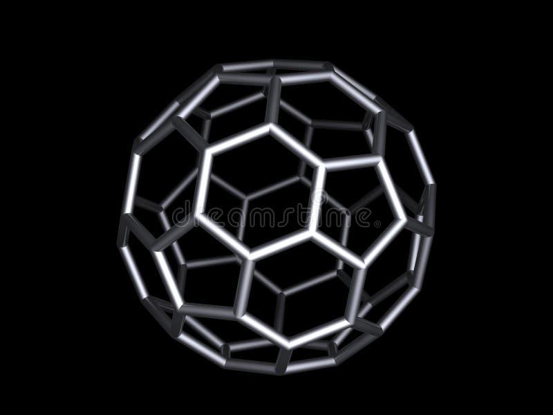 buckminsterfullerene 向量例证