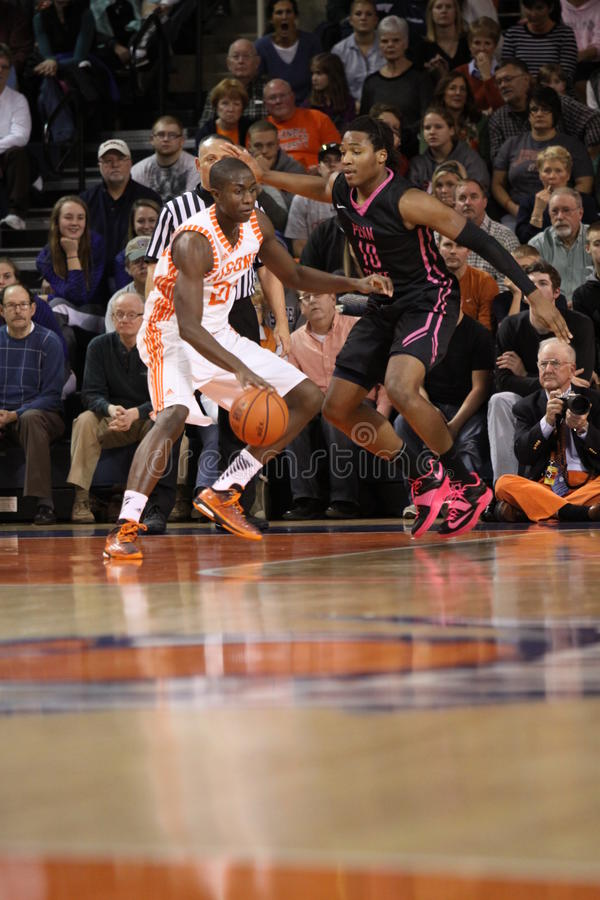 Bucknell's Nana Foulland drives to the basket stock photography