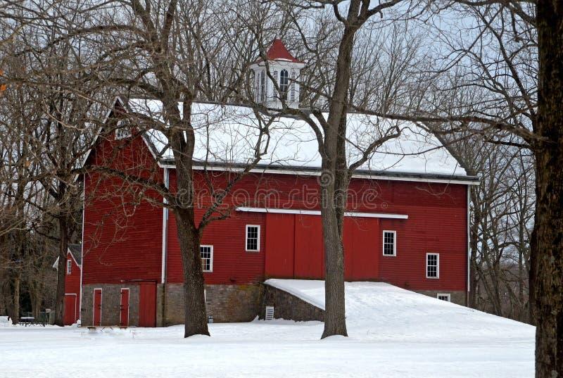 Bucks County Park im Winter lizenzfreie stockfotos