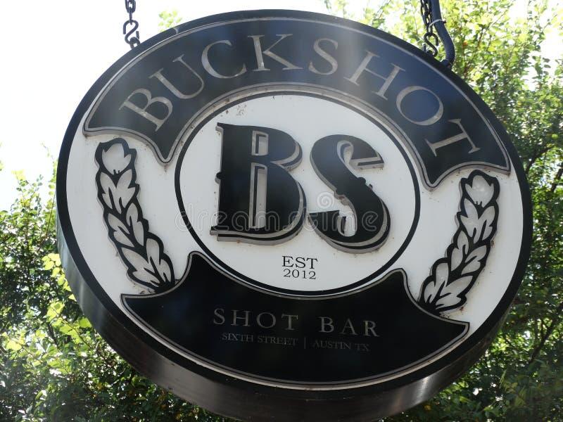 Buckshot strzału baru znak zdjęcie stock