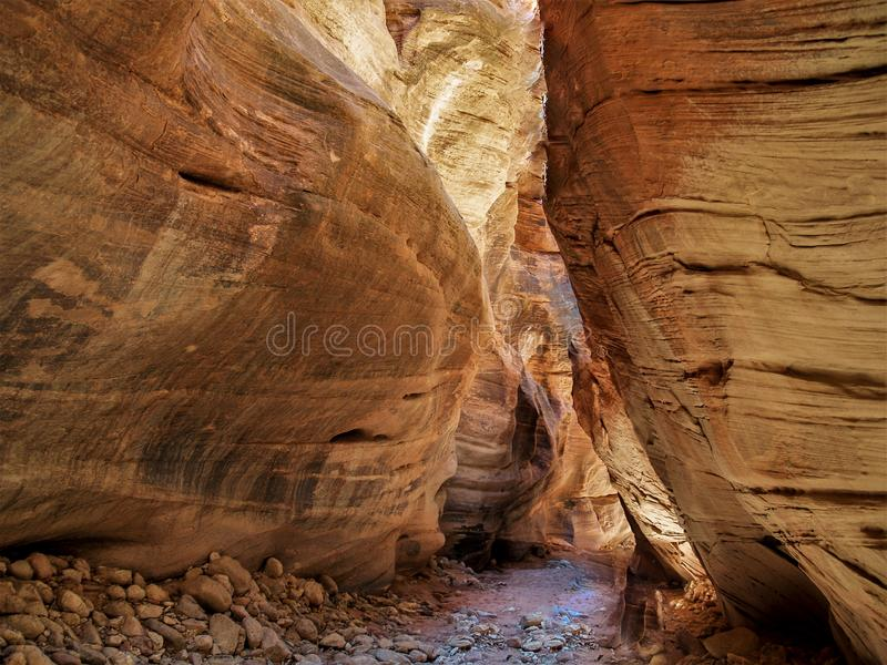 Buckskin Gulch in Vermilion Cliffs Wilderness. Buckskin Gulch is the longest and deepest slot canyon in the southwest and is located in the Coyote Buttes portion royalty free stock photography