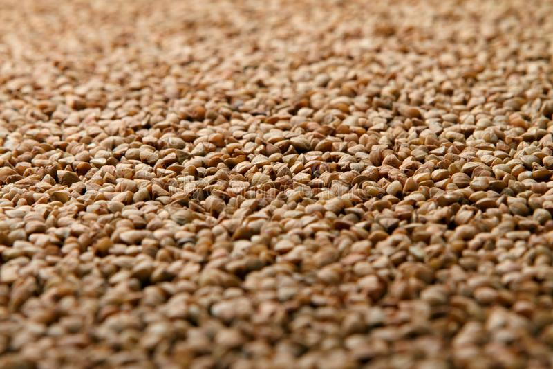 Close-up heap of buckwheat stock images