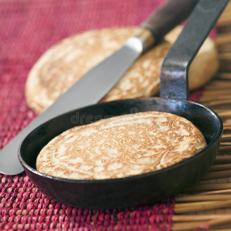 Buckwheat blini. Food, gastronomy, cuisine,cookery royalty free stock photo