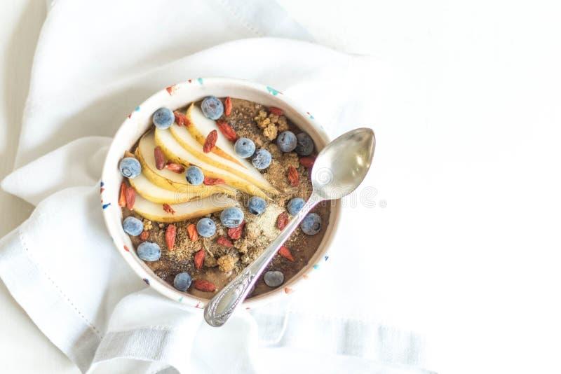 BUCKWHEAT-CAROB pudding zdjęcie stock