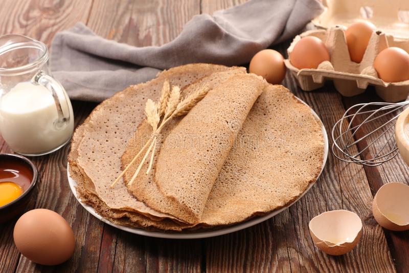 Buckwheat crepe, gluten free royalty free stock photo