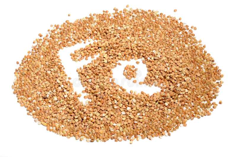 Buckwheat Groats – Good Source of Iron (Fe) stock images