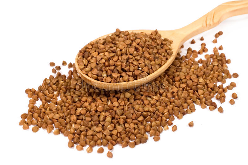 Buckwheat groats royalty free stock image